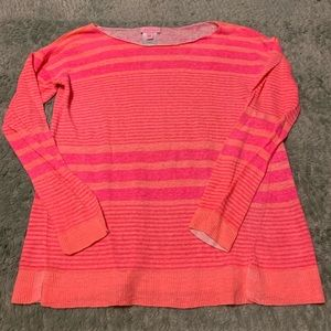 Lilly Pulitzer Linen Striped Knit Crewneck Sweater